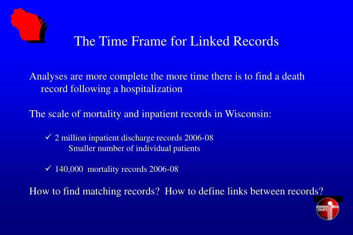 The Time Frame for Linked Records