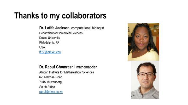 Thanks to my collaborators