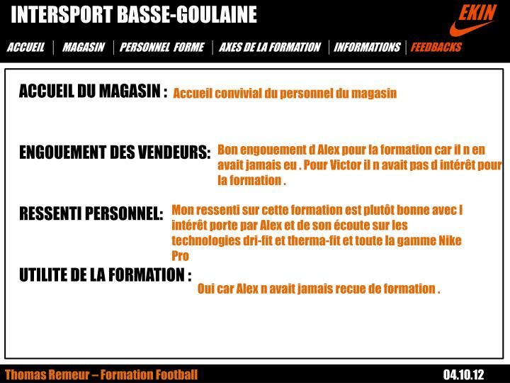 INTERSPORT BASSE-GOULAINE