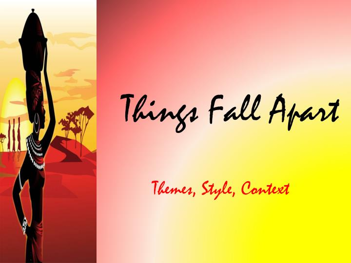 things fall apart essays change In things fall apart there are many cultural collisions created by the introduction of western ideas into ibo culture okonkwo feared change  related essays.
