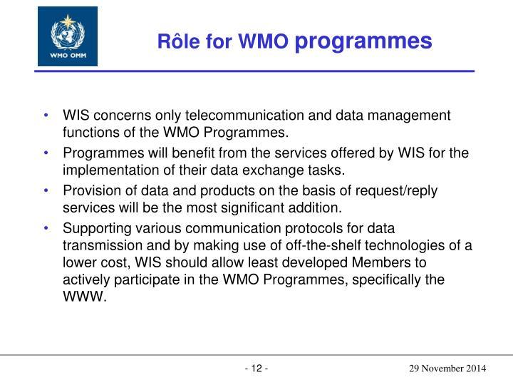 Rôle for WMO