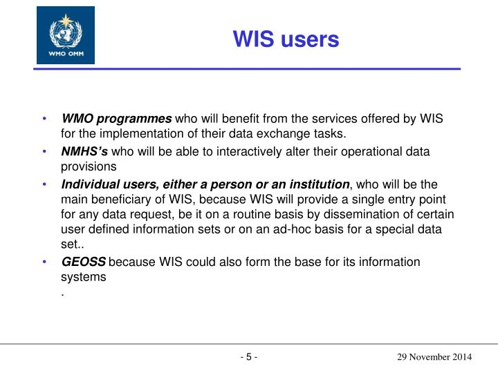 WIS users