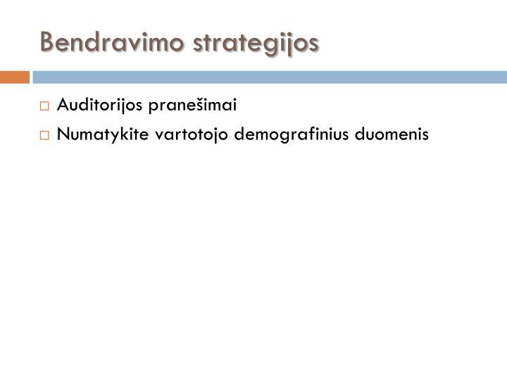 Bendravimo strategijos