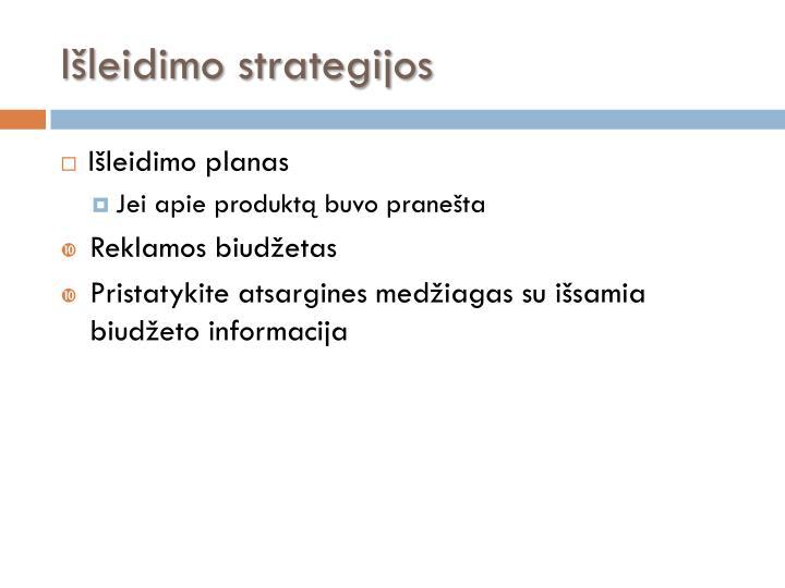 Išleidimo strategijos