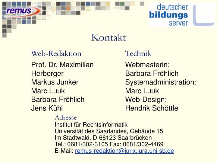 Web-Redaktion