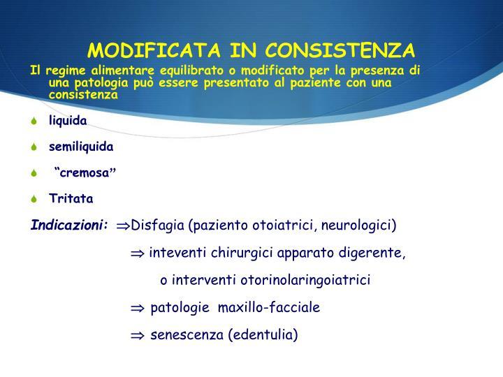 MODIFICATA IN CONSISTENZA