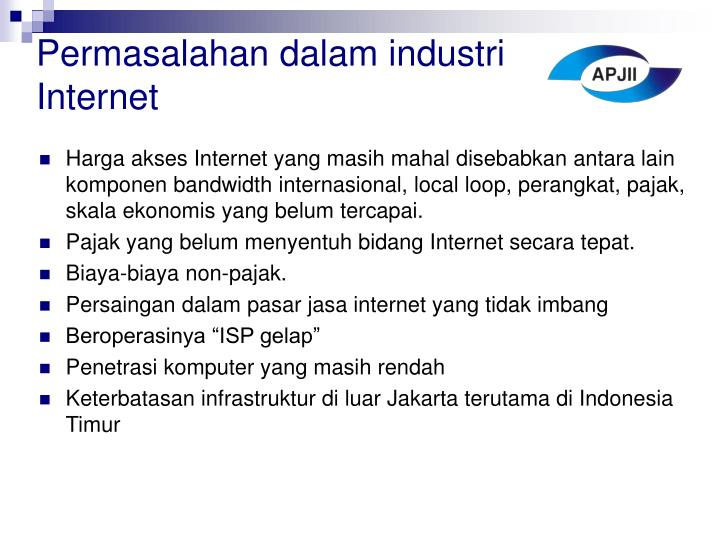 Permasalahan dalam industri