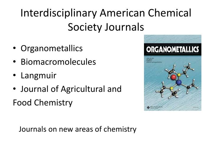 Interdisciplinary American Chemical Society Journals