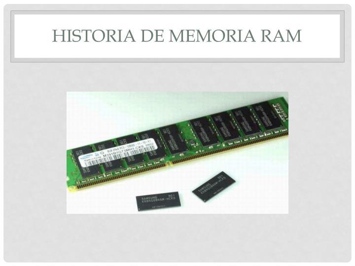 Historia de memoria RAM