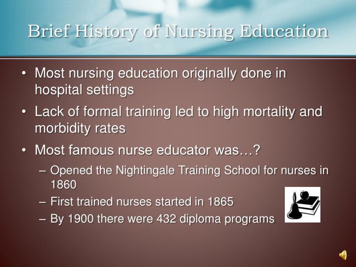 Brief History of Nursing Education