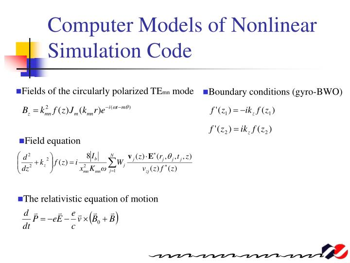 Computer Models of Nonlinear Simulation Code