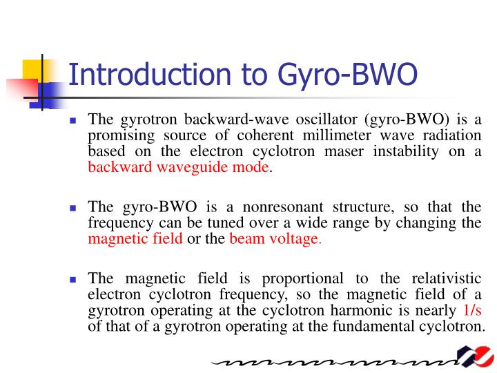 Introduction to gyro bwo
