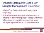 financial statement cash flow drought management statement