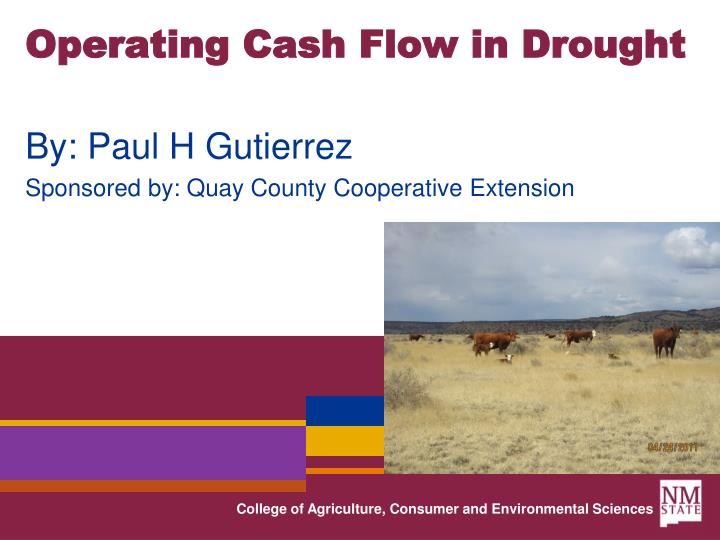 operating cash flow in drought