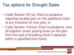 tax options for drought sales