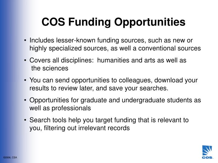 COS Funding