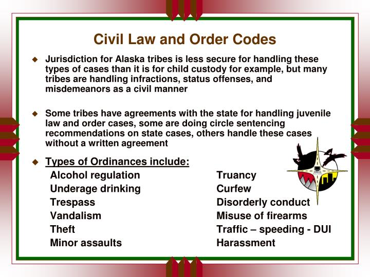 Civil Law and Order Codes
