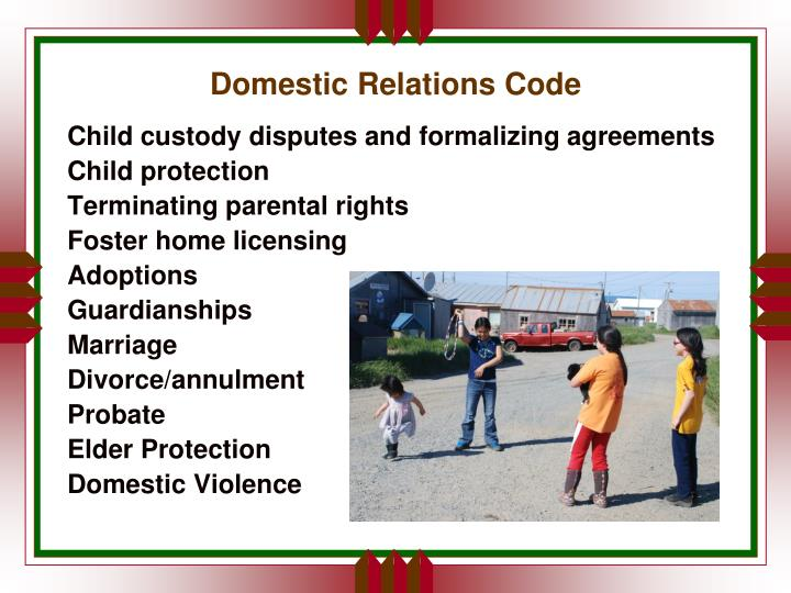 Domestic Relations Code