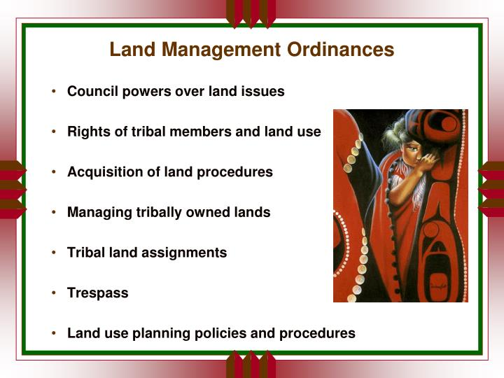 Land Management Ordinances
