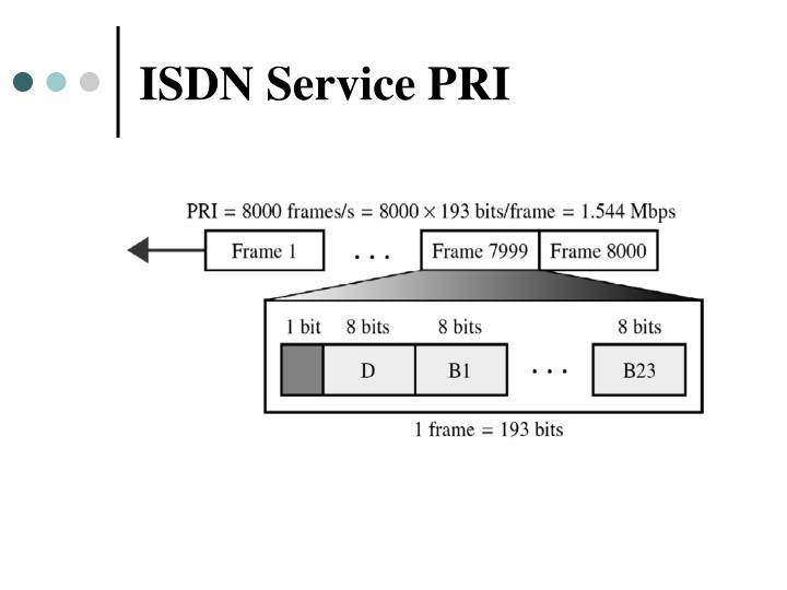 ISDN Service PRI