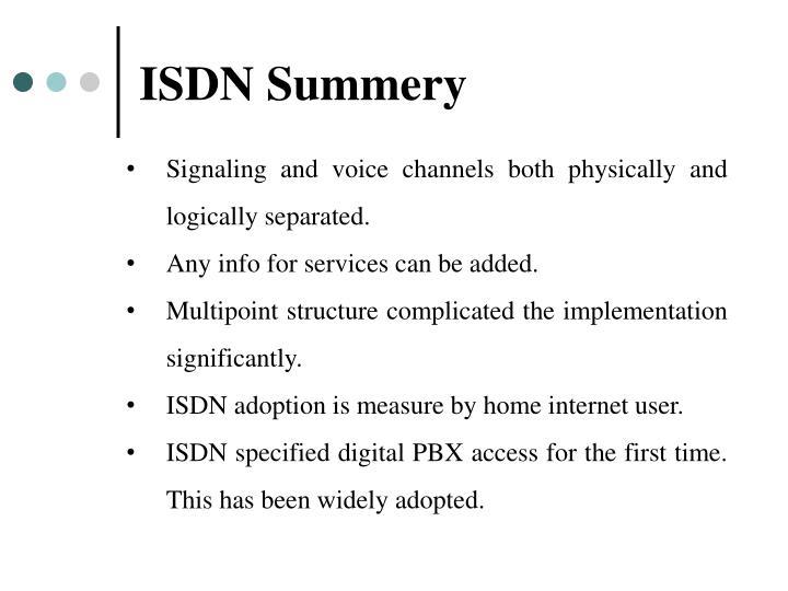 ISDN Summery