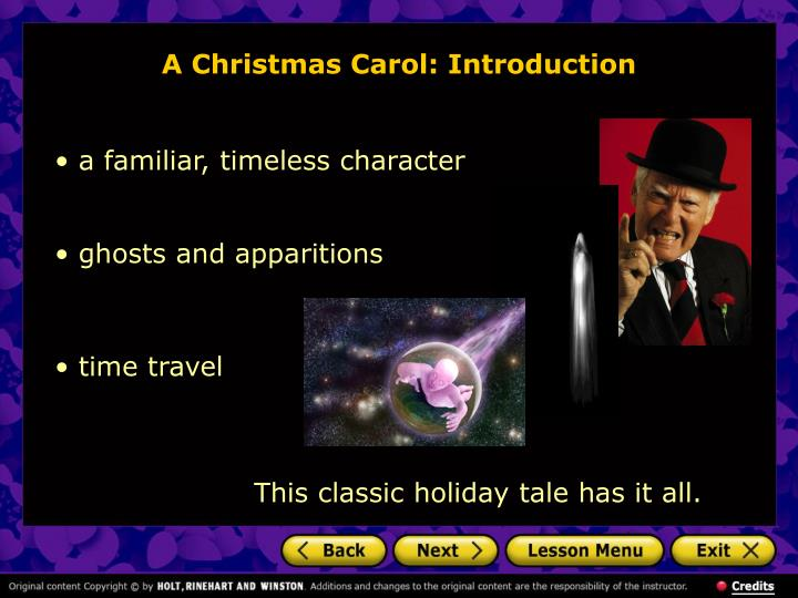A christmas carol introduction