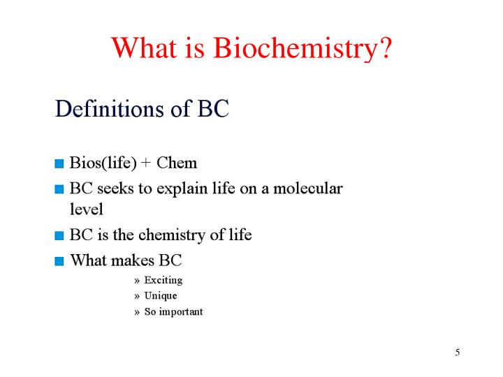 What is Biochemistry?