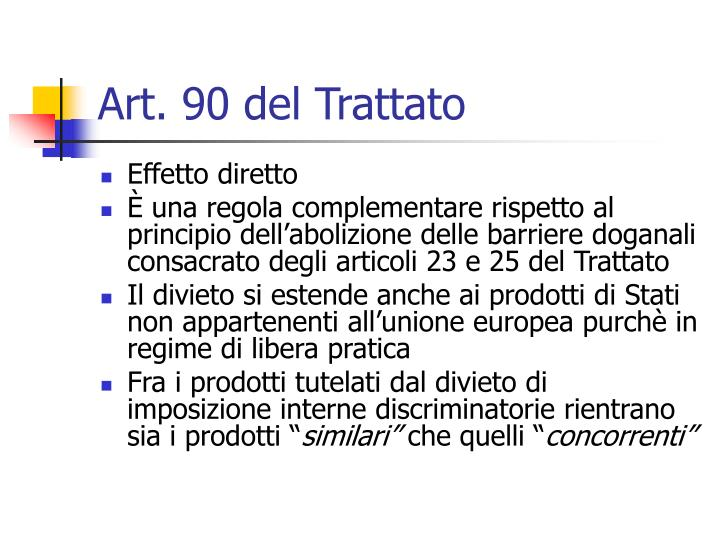 Art. 90 del Trattato