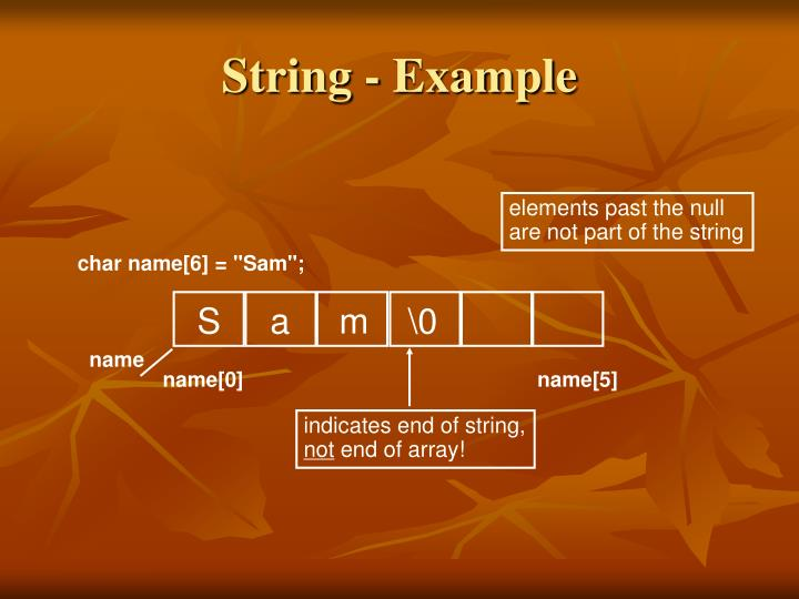String - Example