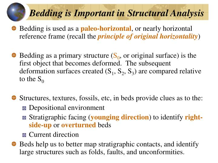 Bedding is Important in Structural Analysis