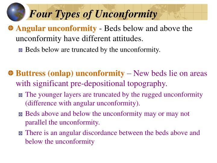 Four Types of Unconformity
