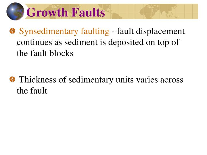 Growth Faults
