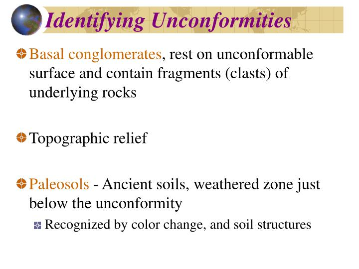 Identifying Unconformities