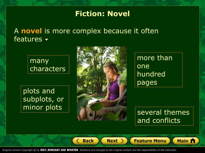 Fiction: Novel