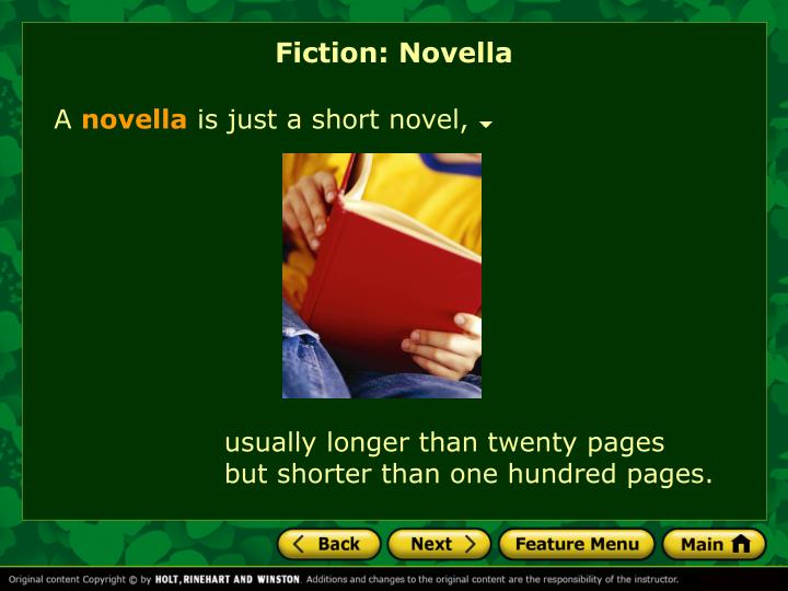 Fiction: Novella