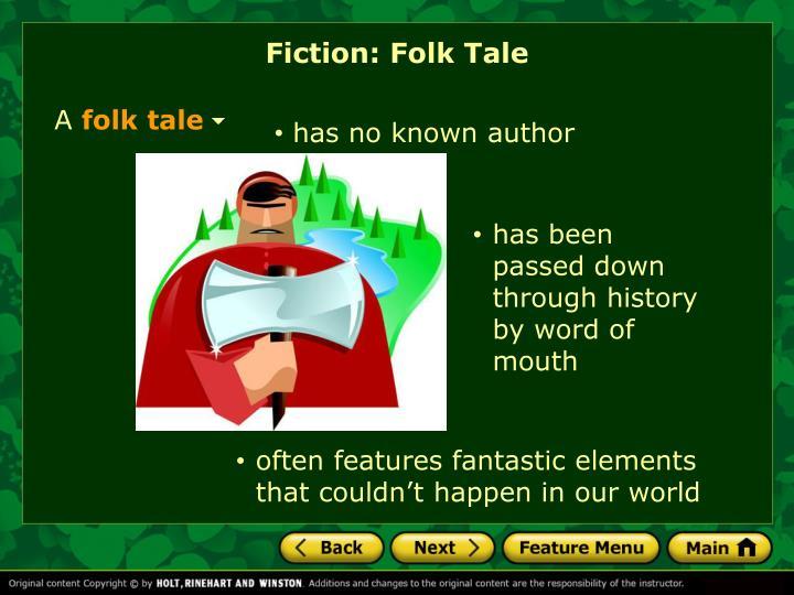 Fiction: Folk Tale