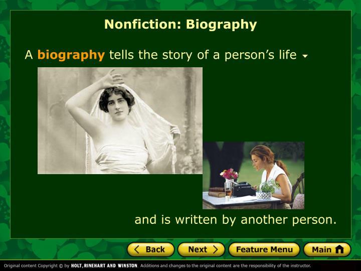 Nonfiction: Biography
