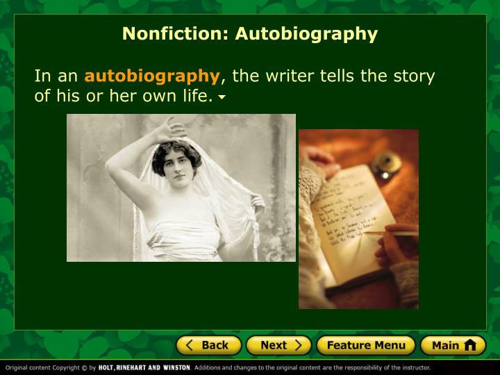 Nonfiction: Autobiography