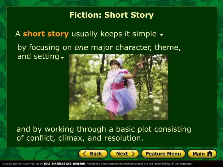 Fiction: Short Story