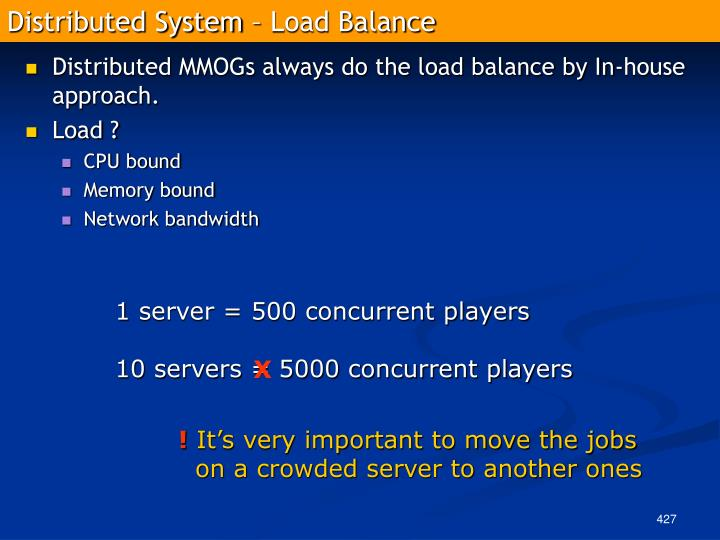 Distributed System – Load Balance