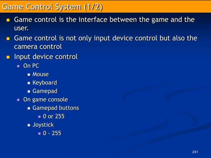 Game Control System (1/2)