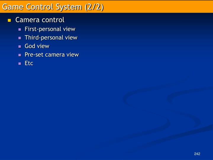 Game Control System (2/2)