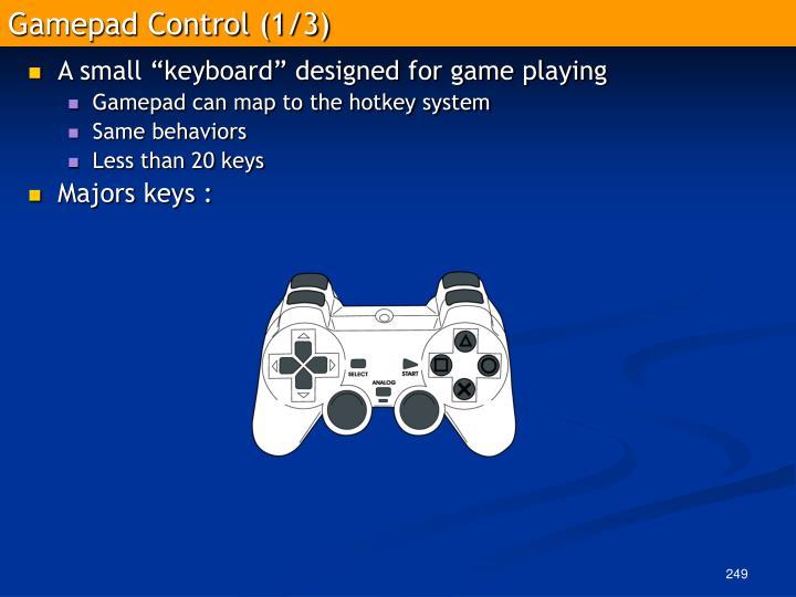 Gamepad Control (1/3)