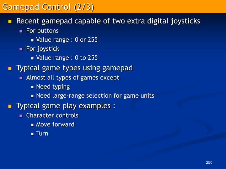 Gamepad Control (2/3)