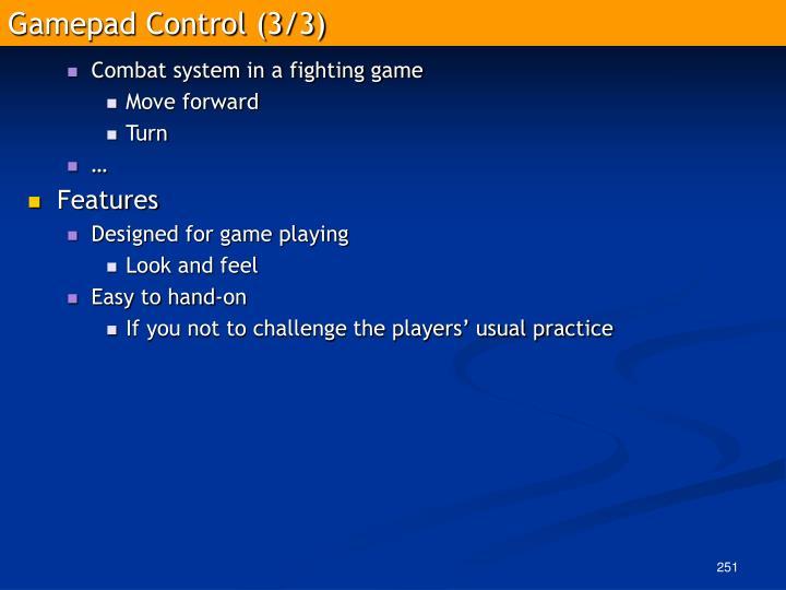 Gamepad Control (3/3)