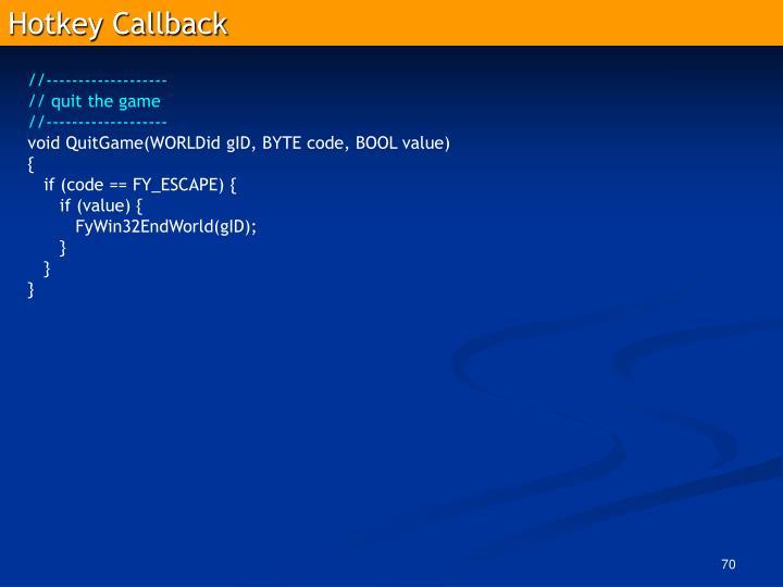 Hotkey Callback