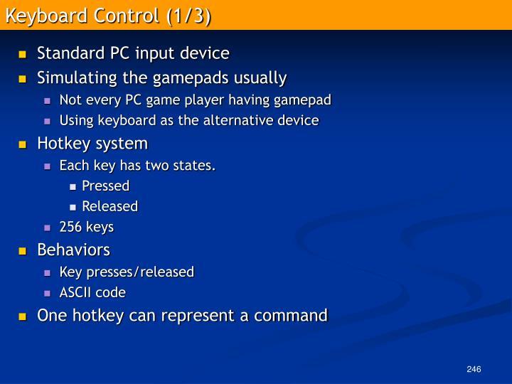 Keyboard Control (1/3)