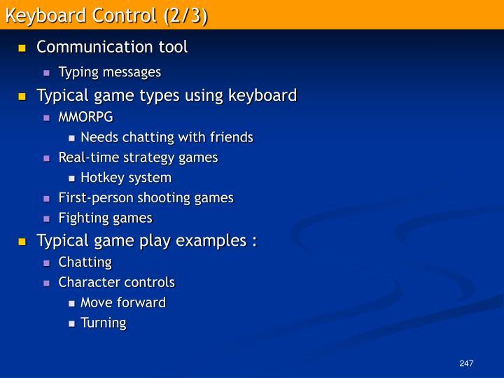 Keyboard Control (2/3)