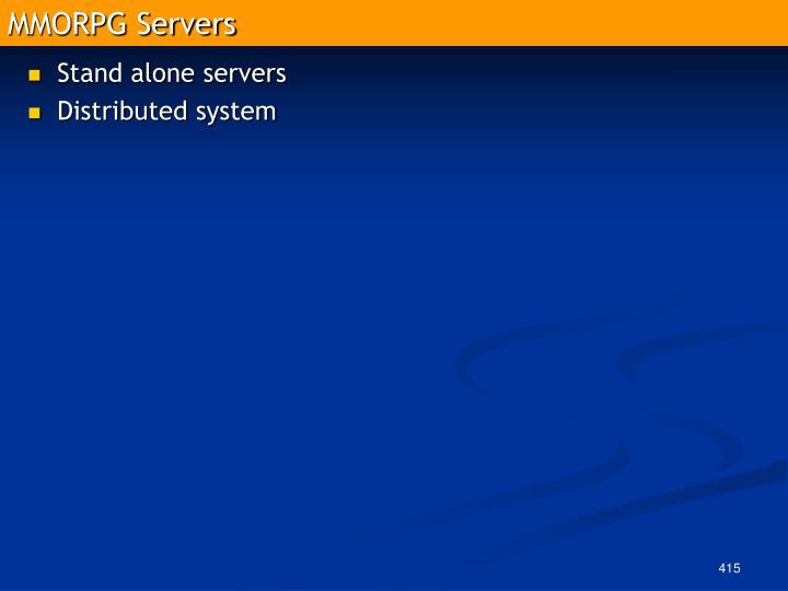 MMORPG Servers
