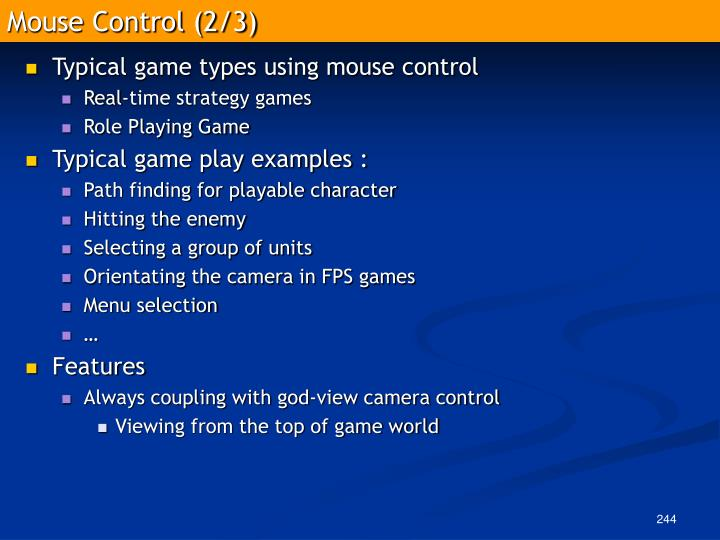 Mouse Control (2/3)